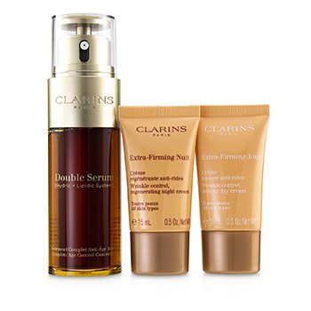 Clarins Double Serum Extra-Edition Set: Double Serum 50ml + Extra-Firming Day Cream 15ml + Extra-Firming Night Cream 15ml